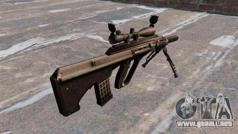 Fusil automático Steyr AUG3 para GTA 4 segundos de pantalla