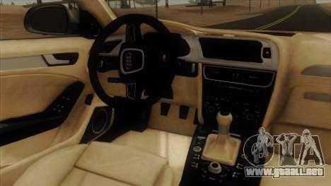 Audi S4 para visión interna GTA San Andreas