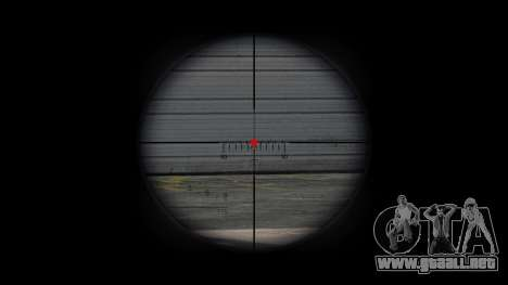 Rifle de francotirador CheyTac intervención para GTA 4 adelante de pantalla