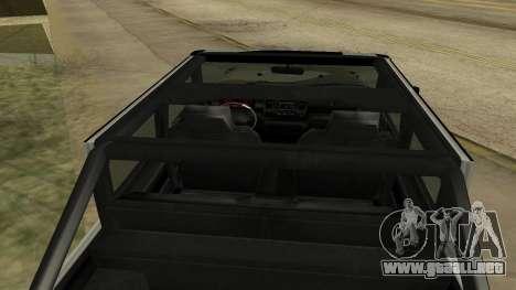 Crusader GTA 5 para GTA San Andreas vista hacia atrás