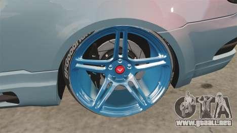BMW M3 GTS Widebody para GTA 4 vista hacia atrás