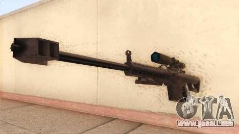 Barrett de Call of Duty MW2 para GTA San Andreas