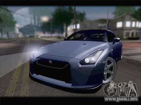 Nissan GT-R Spec V Stance para la visión correcta GTA San Andreas
