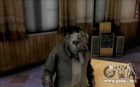 Left 4 Dead fumador para GTA San Andreas tercera pantalla