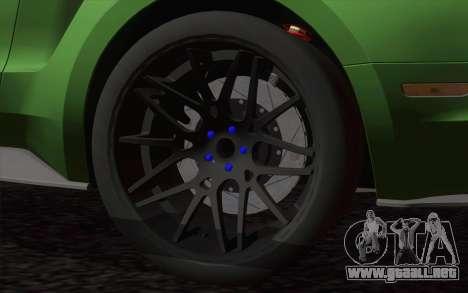 Ford Mustang GT 2013 para GTA San Andreas vista posterior izquierda