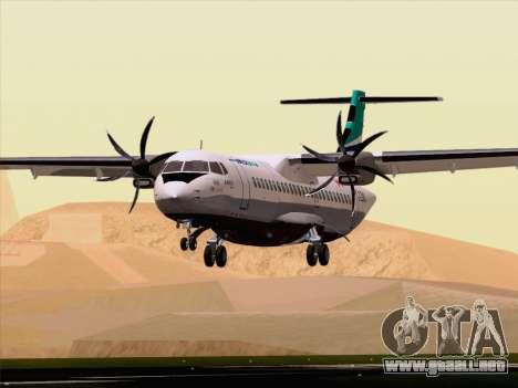 ATR 72-500 WestJet Airlines para vista inferior GTA San Andreas