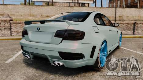 BMW M3 GTS Widebody para GTA 4 Vista posterior izquierda