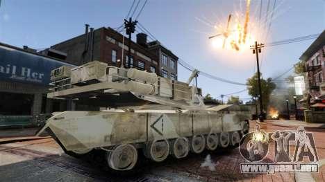Estilo de escritura del tanque V para GTA 4 adelante de pantalla