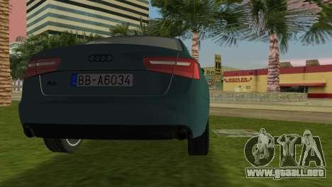 Audi A6 2012 para GTA Vice City vista lateral izquierdo