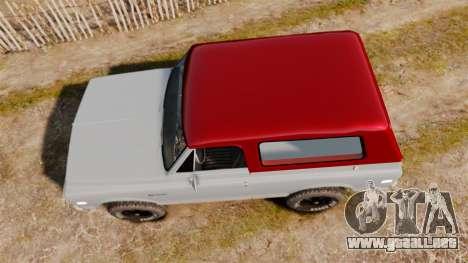 Chevrolet K5 Blazer para GTA 4 visión correcta