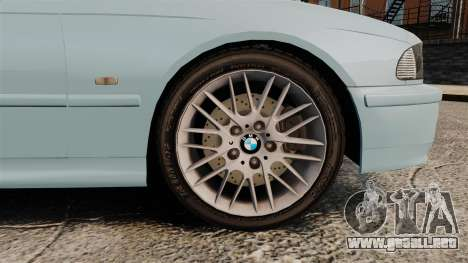 BMW 525i (E39) para GTA 4 vista hacia atrás