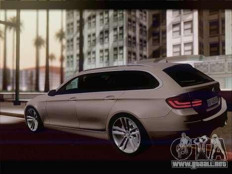 BMW M5 F11 Touring para GTA San Andreas vista hacia atrás