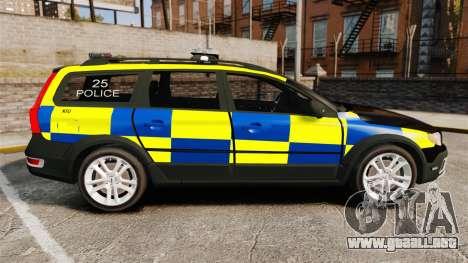 Volvo XC70 Police [ELS] para GTA 4 left
