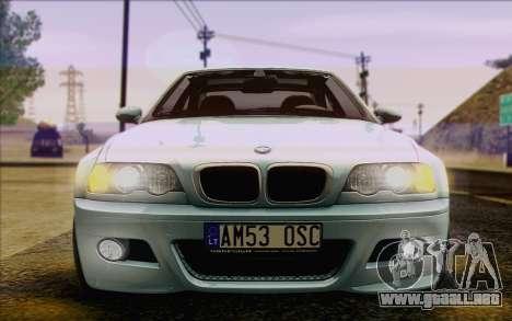 BMW M3 E46 2005 para vista inferior GTA San Andreas