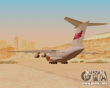 Il-76td IlAvia para GTA San Andreas vista hacia atrás