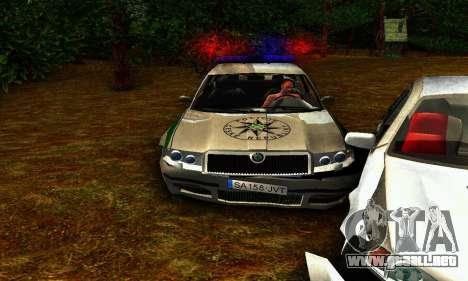 Skoda Superb POLICIE para visión interna GTA San Andreas