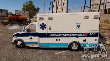Ford E-350 Liberty Ambulance [ELS] para GTA 4 left
