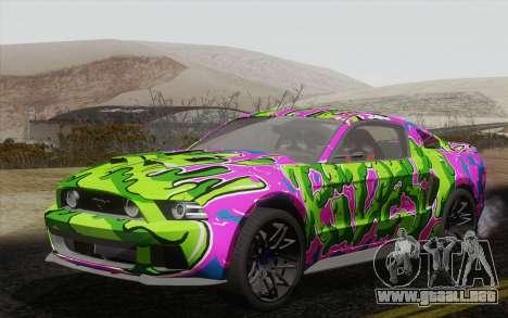 Ford Mustang GT 2013 para visión interna GTA San Andreas