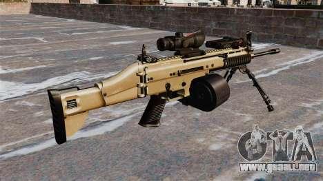 Máquina de asalto FN SCAR-L C-Mag para GTA 4 segundos de pantalla