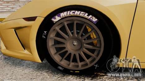 Lamborghini Gallardo 2013 v2.0 para GTA 4 vista hacia atrás
