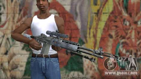 M14 EBR Blue Tiger para GTA San Andreas tercera pantalla