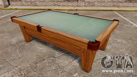 Nueva mesa de billar para GTA 4