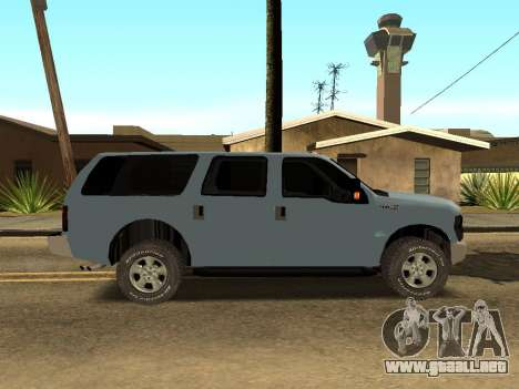 Ford Excursion para GTA San Andreas vista posterior izquierda