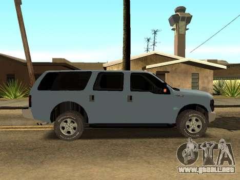 Ford Excursion para GTA San Andreas vista posterior izquierda
