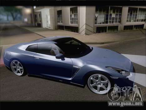 Nissan GT-R Spec V Stance para GTA San Andreas vista hacia atrás