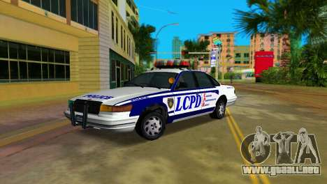GTA IV Police Cruiser para GTA Vice City vista lateral izquierdo