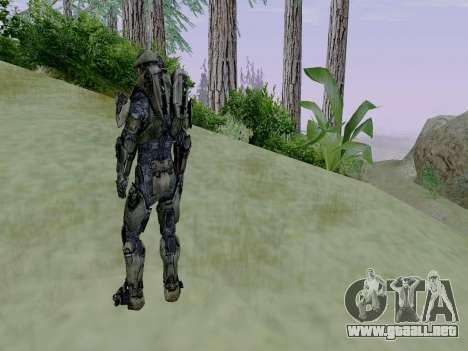Master Chief para GTA San Andreas quinta pantalla