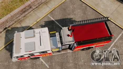 Firetruck LCFR [ELS] para GTA 4 visión correcta