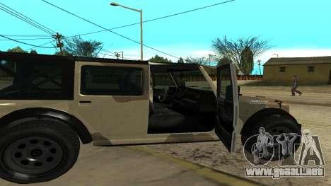 Crusader GTA 5 para GTA San Andreas vista posterior izquierda