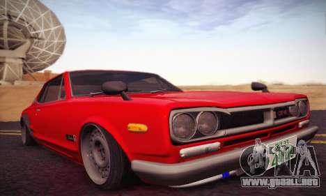 Nissan Skyline 2000GTR 1967 Hellaflush para GTA San Andreas