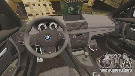 BMW 1M 2014 para GTA 4 vista interior
