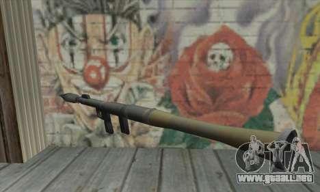 Lanzador de misiles de los Saints Row 2 para GTA San Andreas segunda pantalla
