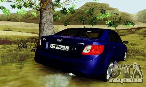 Kia Rio II 2009 para la visión correcta GTA San Andreas