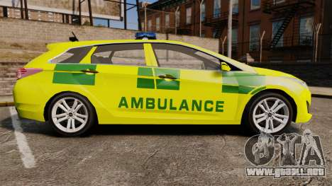 Hyundai i40 Tourer [ELS] London Ambulance para GTA 4 left