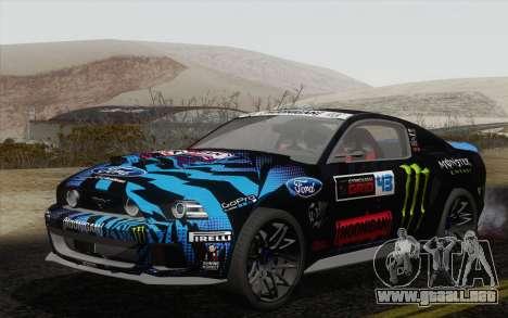 Ford Mustang GT 2013 para GTA San Andreas vista hacia atrás