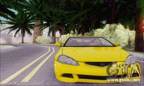 Acura RSX para GTA San Andreas vista posterior izquierda