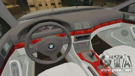 BMW 525i (E39) para GTA 4 vista interior