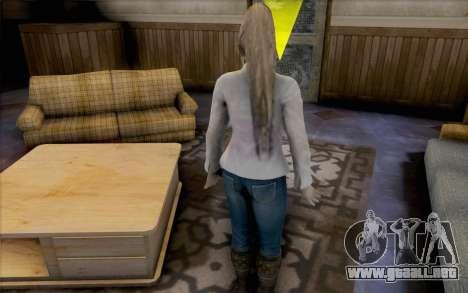 Sarah de Dead or Alive 5 para GTA San Andreas sucesivamente de pantalla