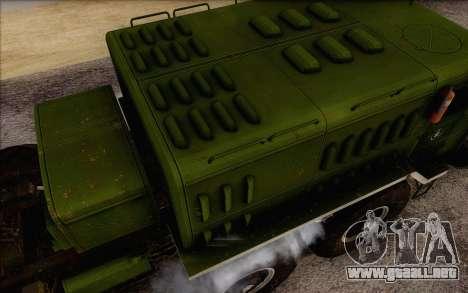 MAZ 535 nuevo para la visión correcta GTA San Andreas