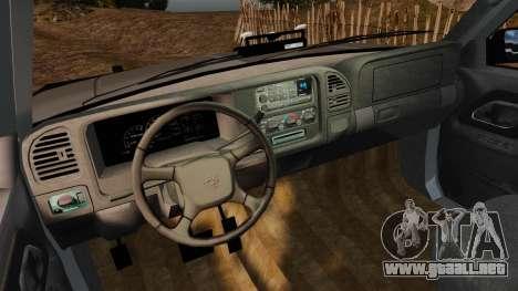 Chevrolet Suburban 1999 Police [ELS] para GTA 4 vista hacia atrás