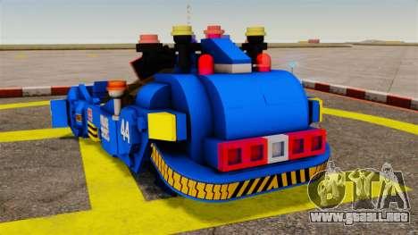 Lego Car Blade Runner Spinner [ELS] para GTA 4 Vista posterior izquierda