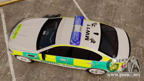 BMW M5 Ambulance [ELS] para GTA 4 visión correcta