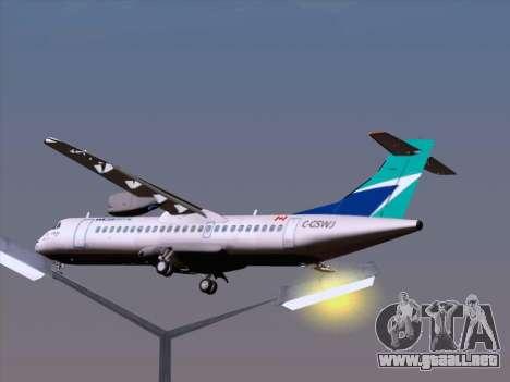ATR 72-500 WestJet Airlines para GTA San Andreas interior