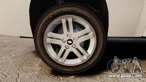 Chevrolet Silverado 1500 2010 para GTA 4 vista hacia atrás