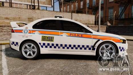 Mitsubishi Lancer Evo X Humberside Police [ELS] para GTA 4 left