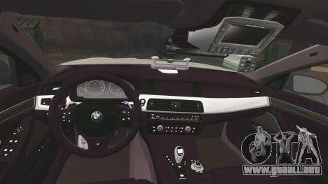 BMW M5 Greater Manchester Police [ELS] para GTA 4 vista lateral
